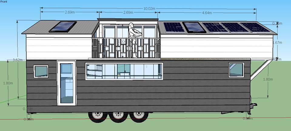 un r ve concr tis une tiny house personnalis e 1 re partie tiny house. Black Bedroom Furniture Sets. Home Design Ideas