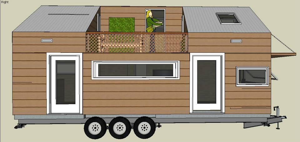De la maquette au croquis de la future Tiny house de Lisa.