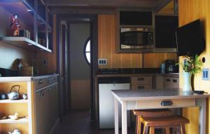 Un cuisine équipée et fonctionnelle pour cette Tiny house.