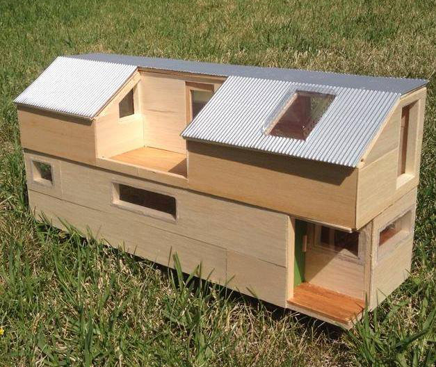 Maquette de la future Tiny house de Lisa.