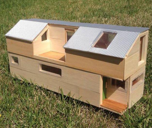 Maquette de la future Tiny house de Lisa.