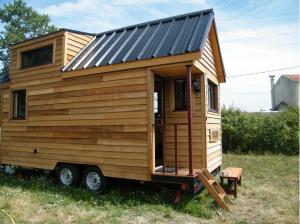 La Tiny house de Laetitia est construite sur une remorque.