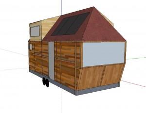La maquette 3d avant la construction de la Tiny house.