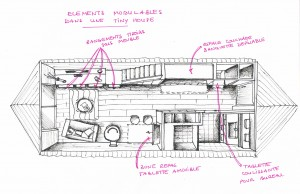 Des éléments amovibles pour une Tiny house fonctionnelle.