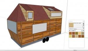 Avant le lancement de la construction de la Tiny house , voici la maquette de Lars.
