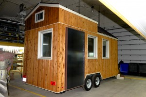 La coquille d'une Tiny house. Photo > habitations microévolution.