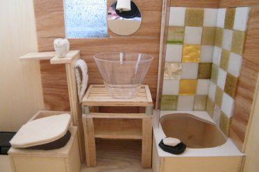 Voici un aperçu de la salle d'eau de la maquette Tiny house !