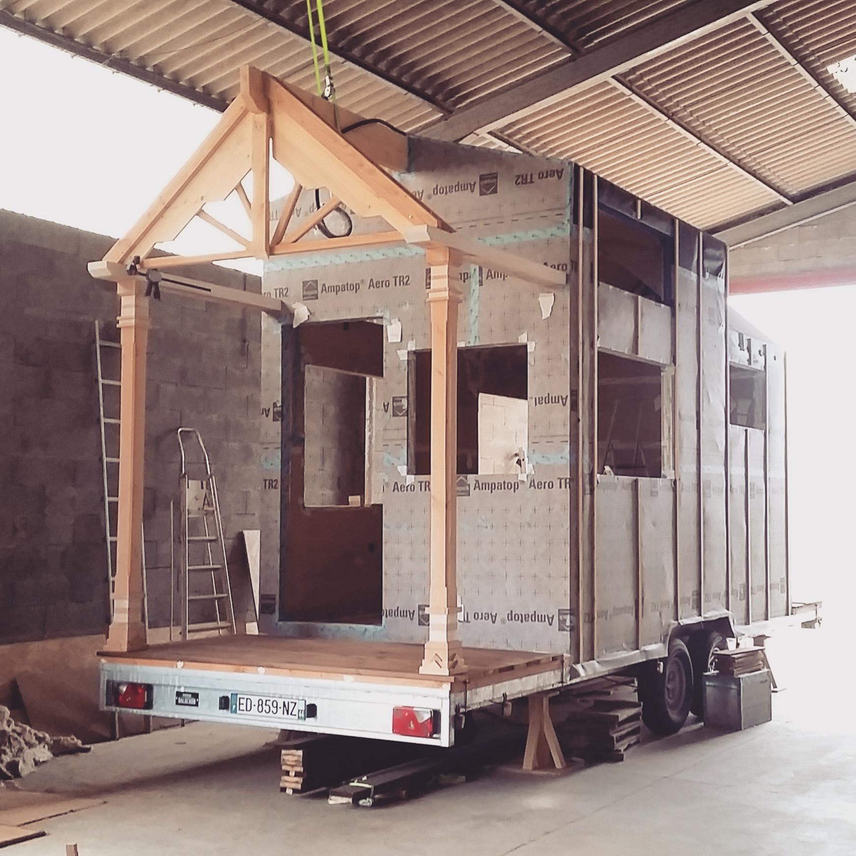 Photo crédit :Linvingston Auto-construction de Tiny house.