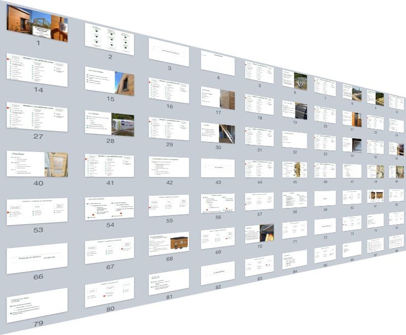Une partie des slides des modules videos
